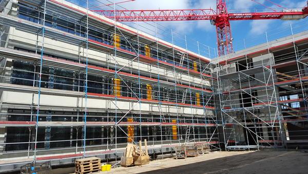 Blick in einen der westlichen Innenhöfe 20.04.2016