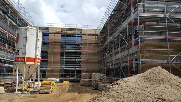Fassade Innenhof geklinkert 29.06.2016