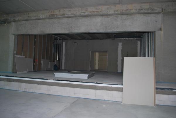 Aula, Ansicht Bühne