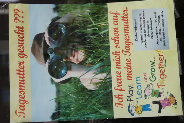 Plakat Kindertagespflege