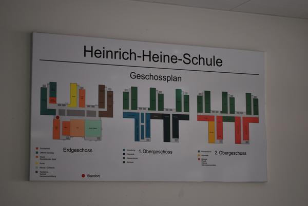 Geschossplan neue Heinrich-Heine-Schule
